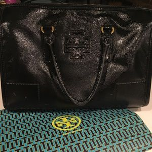 Tory Burch Purse Doctor's bag black patent
